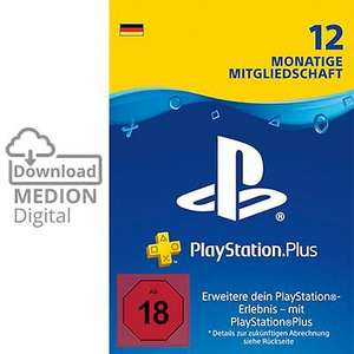 Sony PlayStation Plus 12 Monate Mitgliedschaft Download Code für 37,79€ nur mit VISA [Medion]