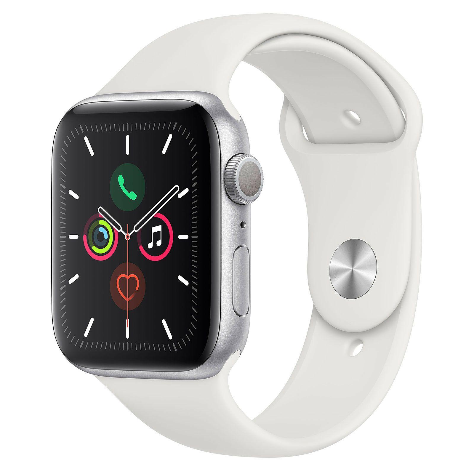 Apple Watch Series 5: Smartwatch (GPS, 44mm, Aluminium, Weiß) | Import mit Apple Garantie