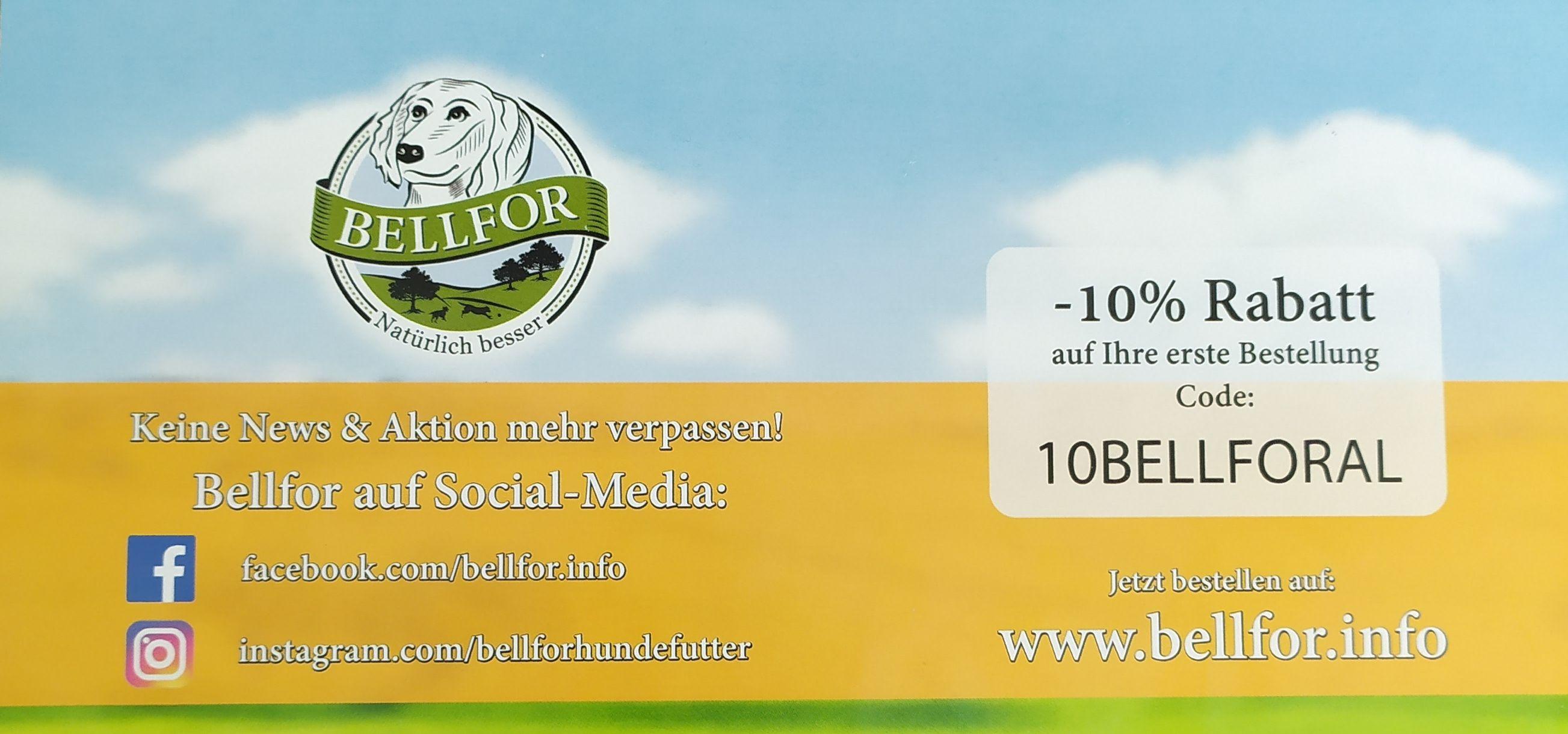 10% auf das gesamte Bellfor-Sortiment -u.a. getreidefreies Hundefutter