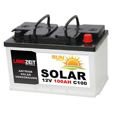 Batterie für kleine Solarinsel - LANGZEIT 12V 100AH bei C100 via Ebay Paypal & Gutschein