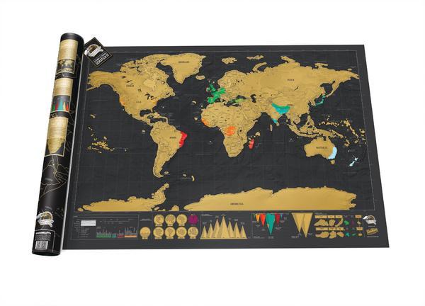 [Bol.de] Scratch Map Deluxe Edition Rubbel-Weltkarte für 18,86€