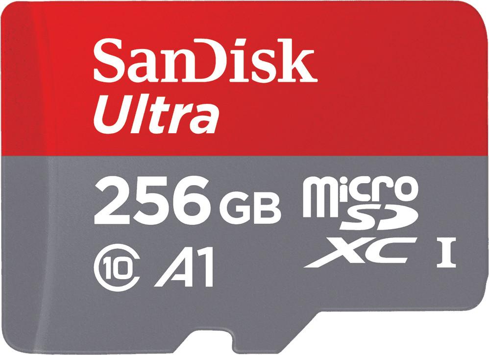 SanDisk Ultra 256GB microSDXC Speicherkarte 100 MB/Sek. Class 10, U1, A1 für 32,39€ / Studenten, Lehrer, Senioren für 30,59€ möglich!