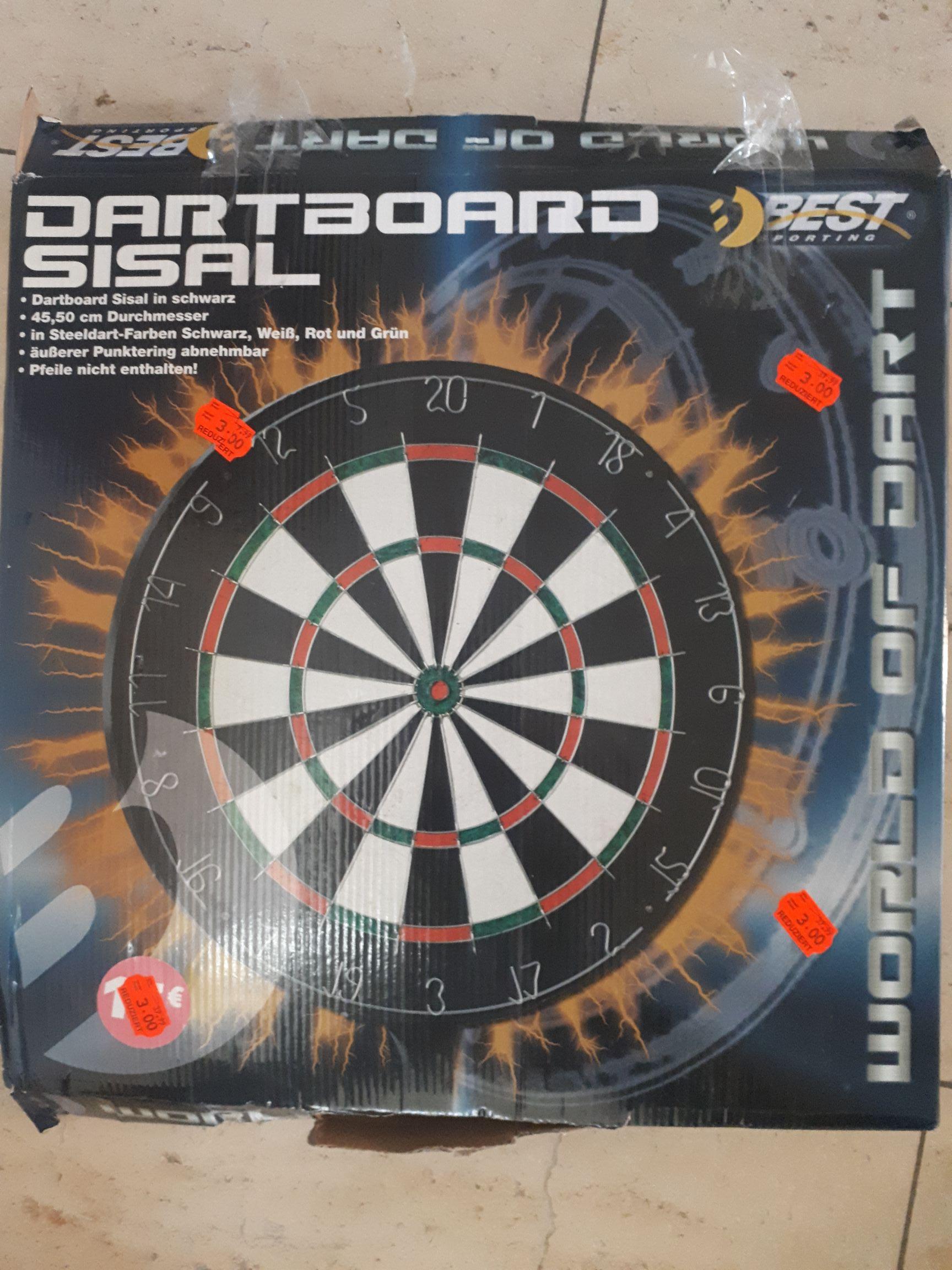 [lokal Kaufland Schweinfurt] Dartboard 45,5cm Sisal