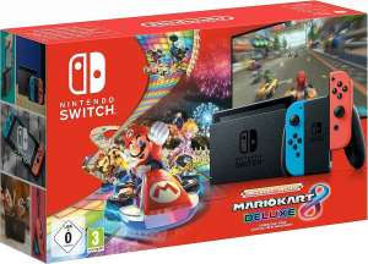 Nintendo Switch, inkl. Mario Kart 8 Deluxe (Download-Code)