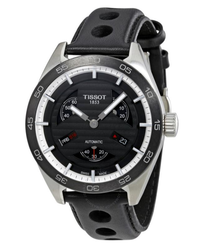 Automatikuhr Tissot T-Sport PRS 516 Small Seconds (38h Gangreserve, Saphirglas, Datum, 42x14mm Edelstahlgehäuse, 10bar wasserdicht)