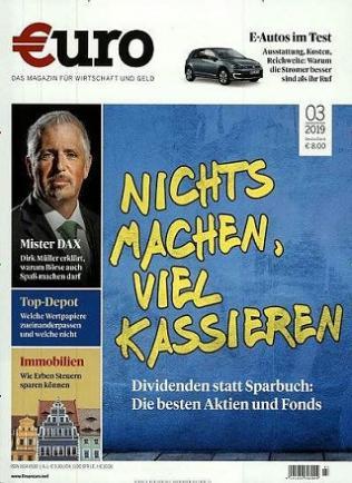 Euro Finanzen Abo (12 Print) für 101,80 mit 100 € BestChoice-Gutschein/ 105 € Otto-Gutschein (Kein Werber nötig)