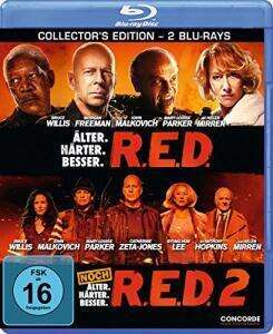 R.E.D. - Älter. Härter. Besser + R.E.D. 2 Collector's Edition (Blu-ray) für 6,97€ (Amazon Prime & Dodax)