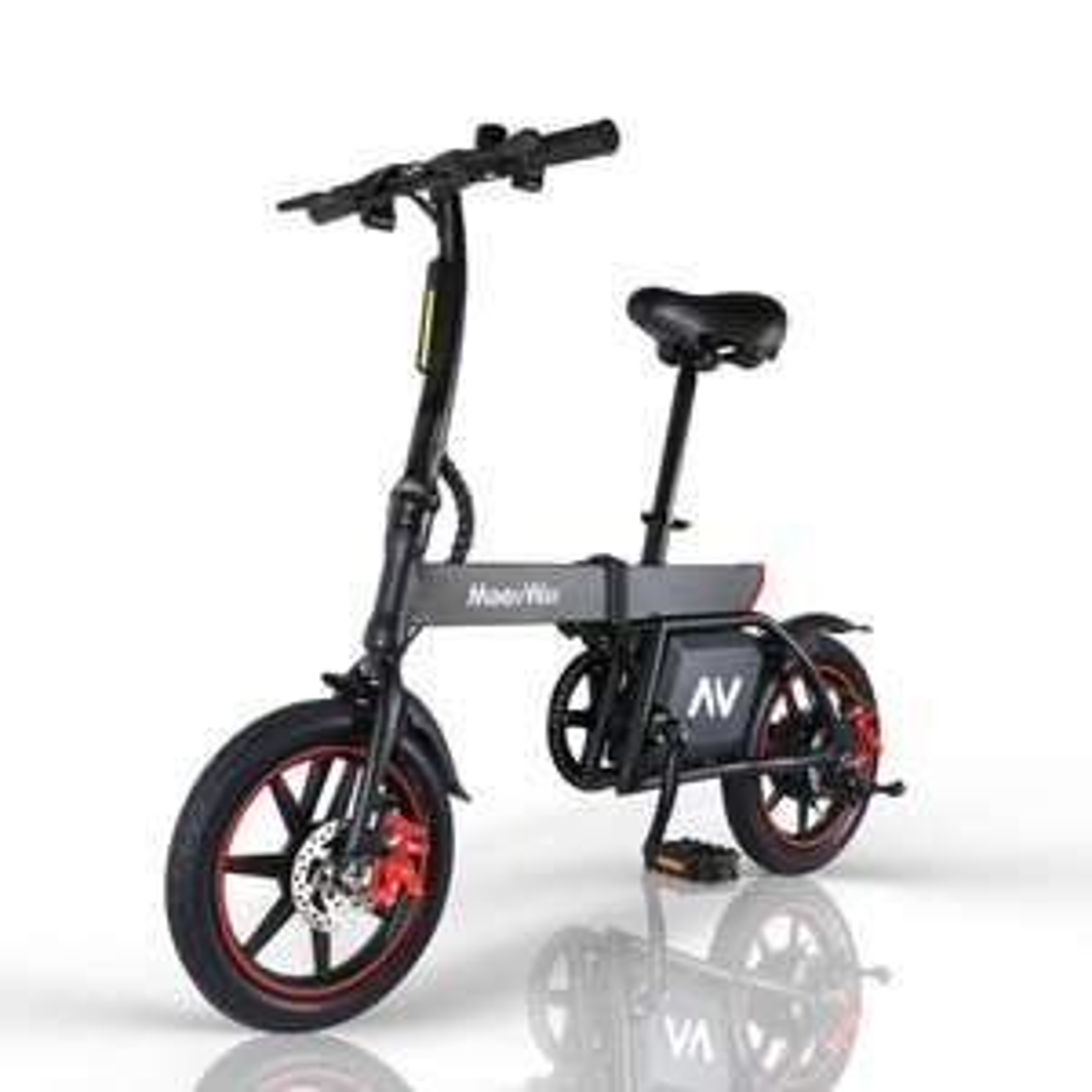 [Rakuten] Moovway Elektrofahrrad Faltbares 14 Zoll E-Bike 350W 6.0Ah 25 km / h, Schwarz