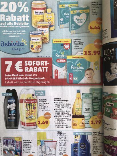 Bestpreis - 21€ Penny Pampers Baby Dry oder Pants 2 Doppelpacks