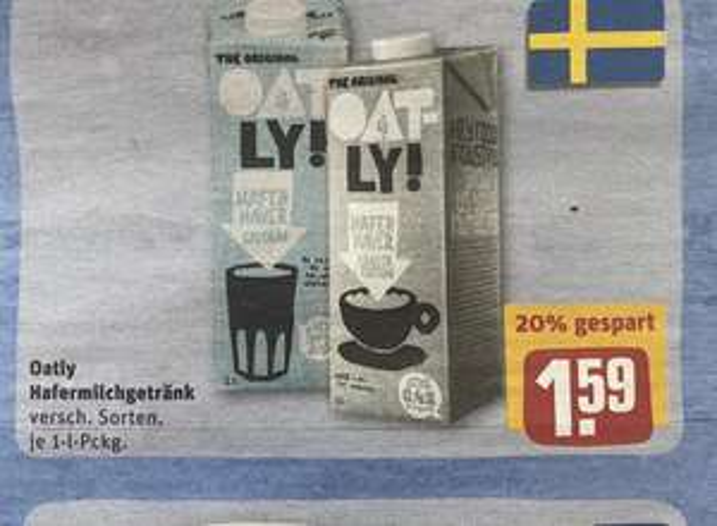 [Rewe] Oatly Hafermilchgetränk versch. Sorten für 1.59€ [Regional Norddeutschland]