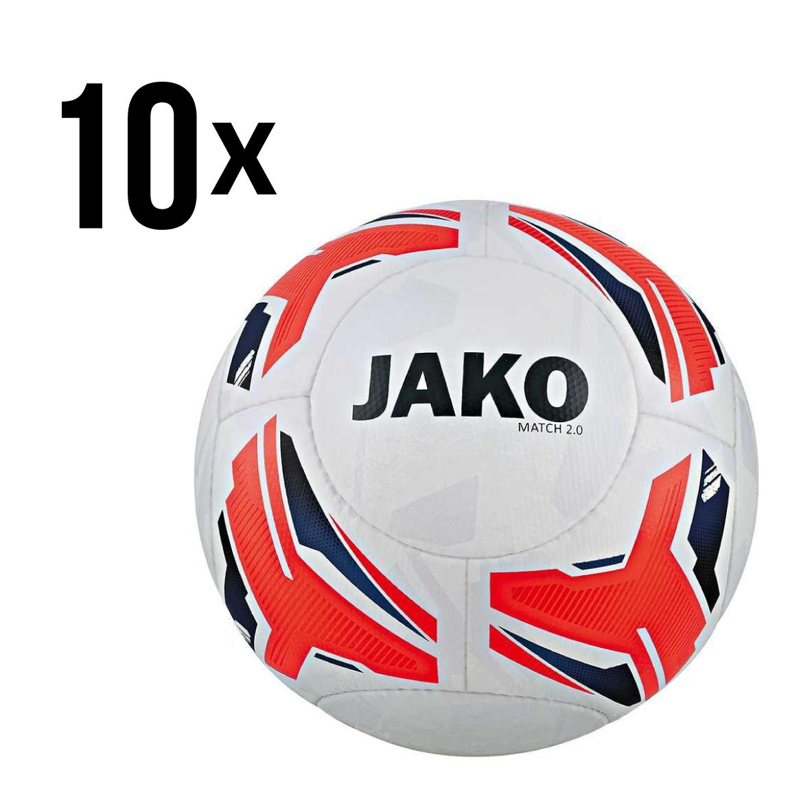 10 x JAKO Match 2.0 Fußball Gr. 5 für 75,99€ (7,60€ pro Fußball)