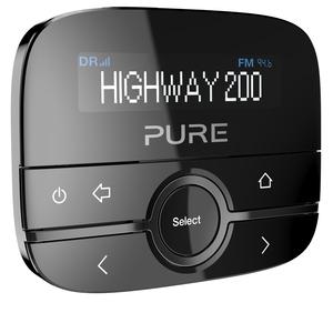 Pure Highway 200 In-Car-Audioadapter (DAB/DAB+ Digitalradio mit dimmbaren Display, Aux-In Anschluss und 20 Senderspeicherplätzen)