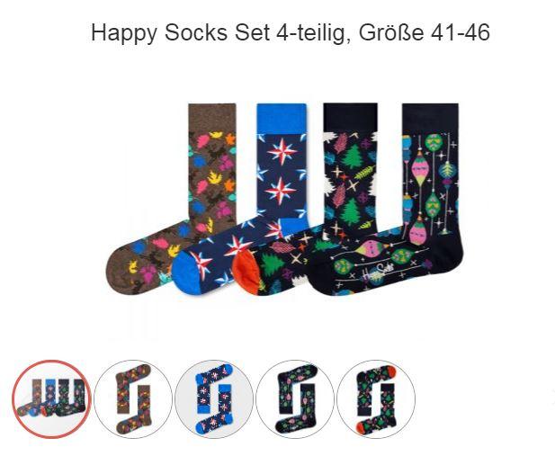 (top12.de) Happy Socks - 4er Paar // Größe 41-46 (9,12€ + Versand)