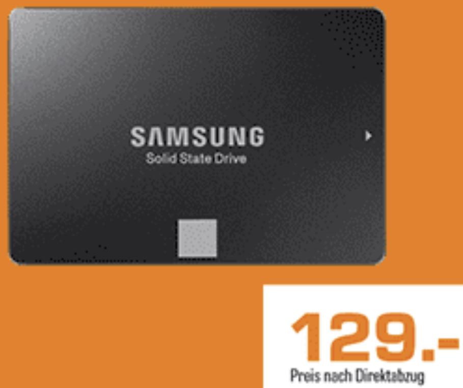 SAMSUNG 860 EVO Basic 1TB SSD 2.5 Zoll intern für 129€ inkl. Versandkosten