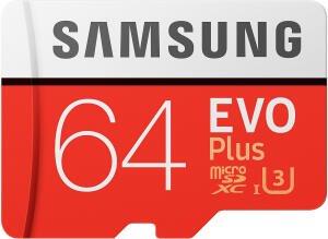 SAMSUNG Evo Plus 64GB microSDXC Speicherkarte (Class 10, U3, 100 MB/s Lesen, 60 MB/s Schreiben) für 11€ [Saturn bei Abholung / Amazon Prime]