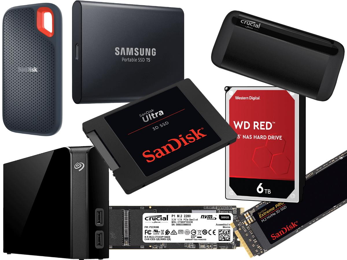 Speicherwoche reloaded: Wiederholung diverser Tagesangebote (SSDs & externe Festplatten)