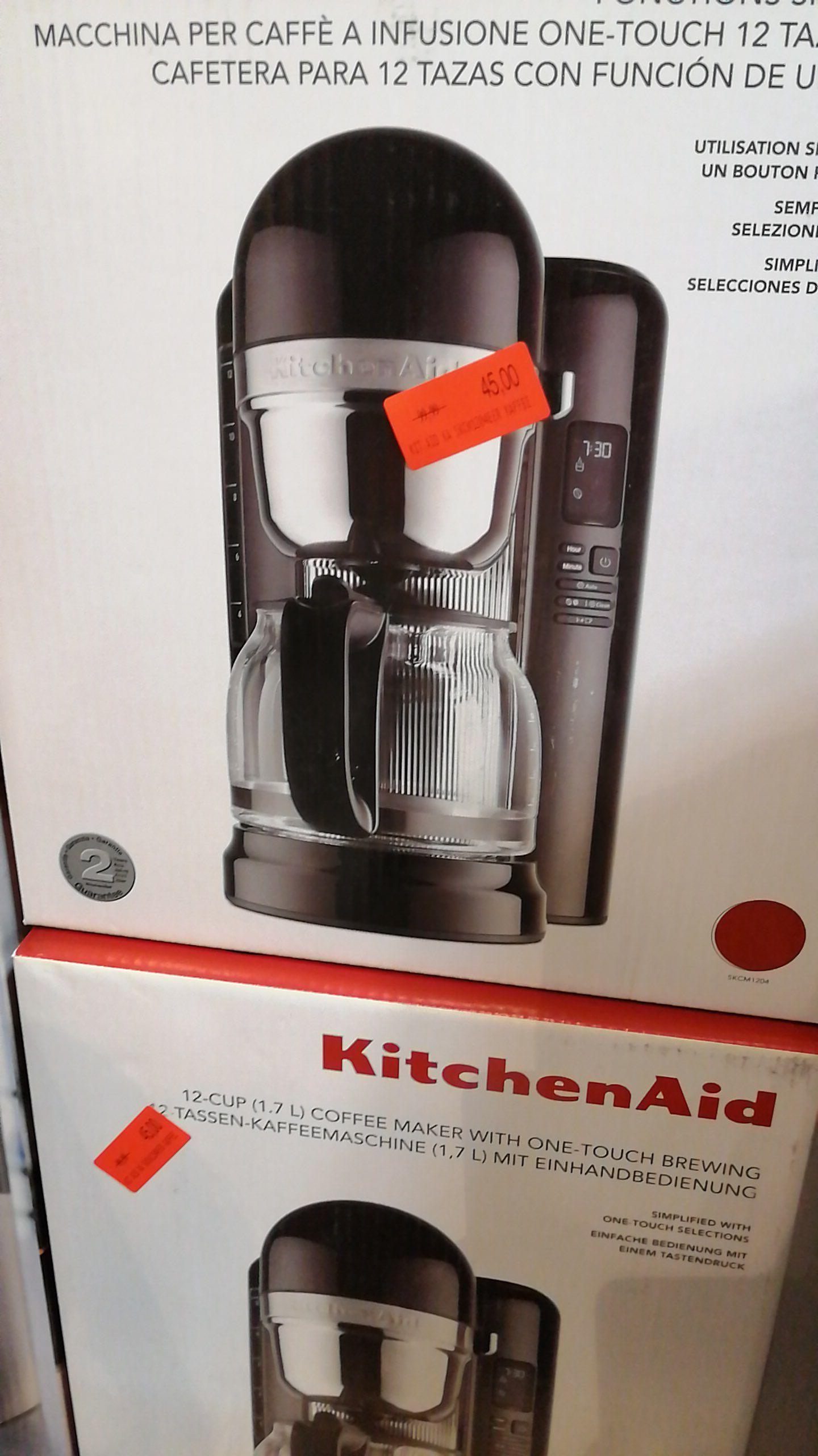 [lokal] KitchenAid Kaffeemaschine 1,7l schwarz/rot 5KCM1204