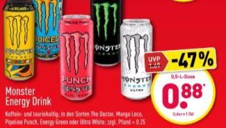 [Aldi Nord] Monster Energy Drink (0,5 Liter) für 0,88€ (05.06.-06.06.)