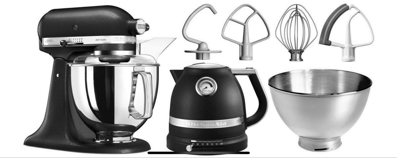 OTTO - KitchenAid Küchenmaschine Artisan 5KSM175PSEBK mit Gratis Wasserkocher, 2. Schüssel, Flexirührer, 300 W, 4,83 l Schüssel