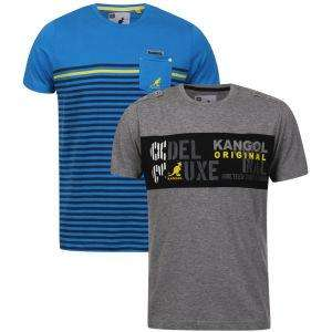 2er Pack Kangol T-Shirts in diversen Farben für 12,89€ inkl VSK @thehut.co.uk