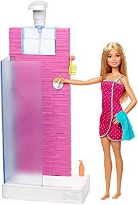 Barbie Deluxe-Set Möbel und Puppe verschiedene Modelle z.B. Badezimmer, real