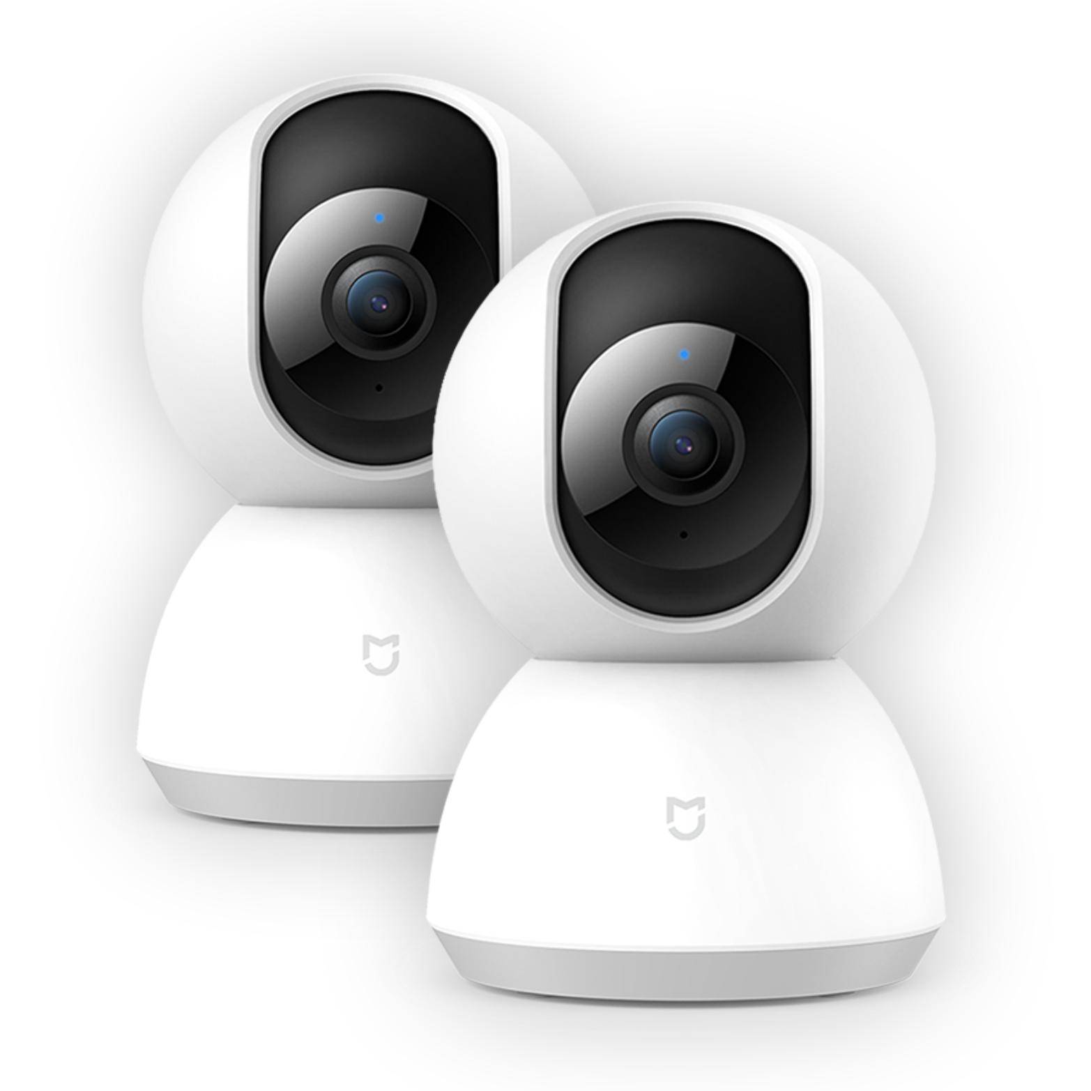 Doppelpack: Xiaomi Mi Home Security Cam - 360° Überwachungskamera (1080P Auflösung, IR Nachtsicht, Bewegungserkennung)
