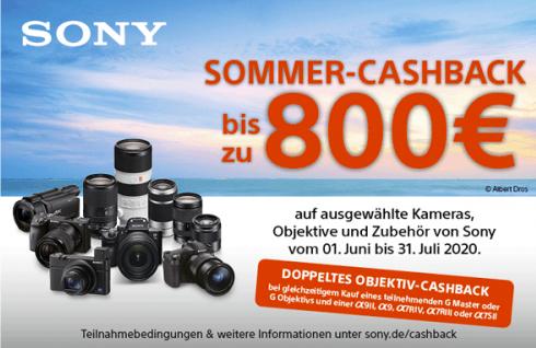 Sony Cashback für Bodys/Objektive/Zubehör (1.6.20 bis 31.7.20): z.B. 200 € für A7III