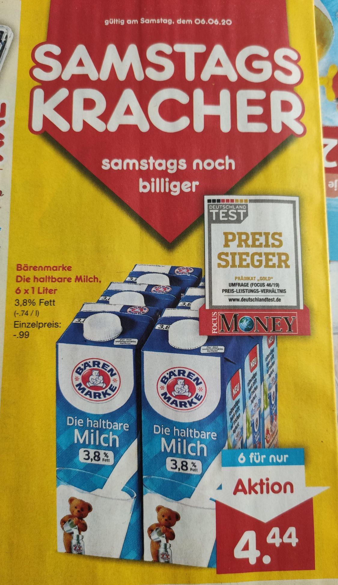 Bärenmarke Milch 3,8% Fett 6x1 Liter für 4,44€ - Literpreis 0,74€ statt 0,99€ [Netto MD]