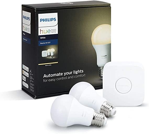 Philips Hue White E27 LED Lampen Starter Set