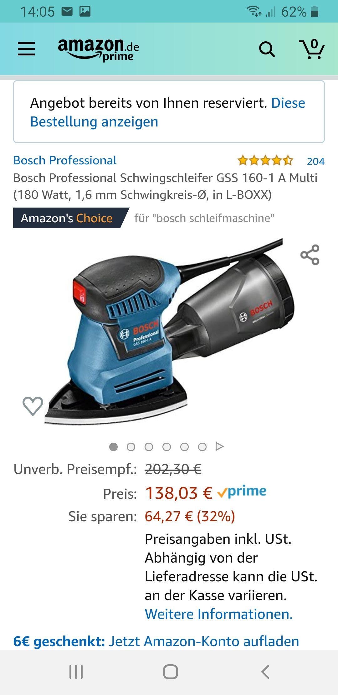 Bosch Professional Schwingschleifer GSS 160-1 A Multi in L-Boxx
