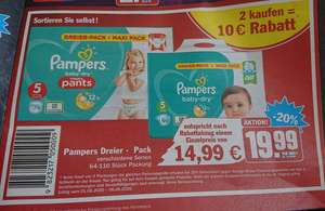 Pampers baby-dry + baby-dry pants 2er maxi-pack [hit] [KW23 02. - 06.06.]
