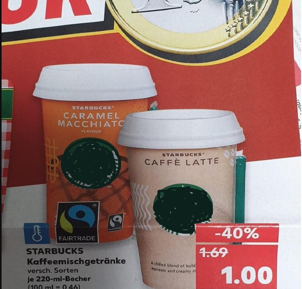 [Kaufland] Starbucks Chilled Classics / 70 Cent Cashback möglich