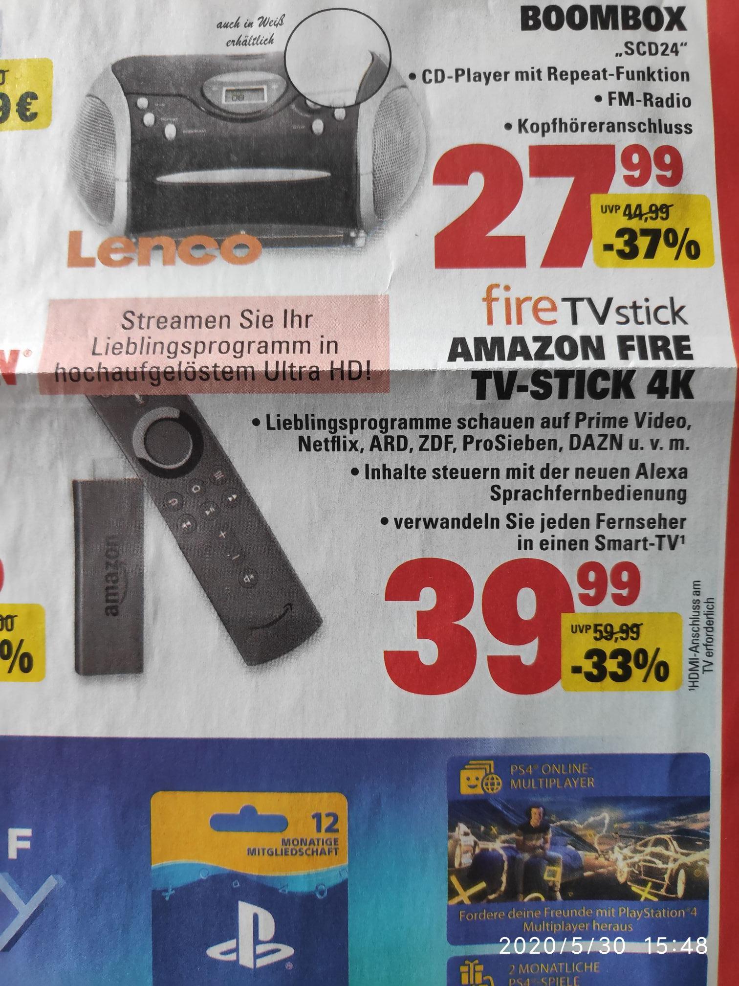 [Lokal] Amazon Fire TV Stick 4k im E center Kuppenheim u.a. ab 02.06