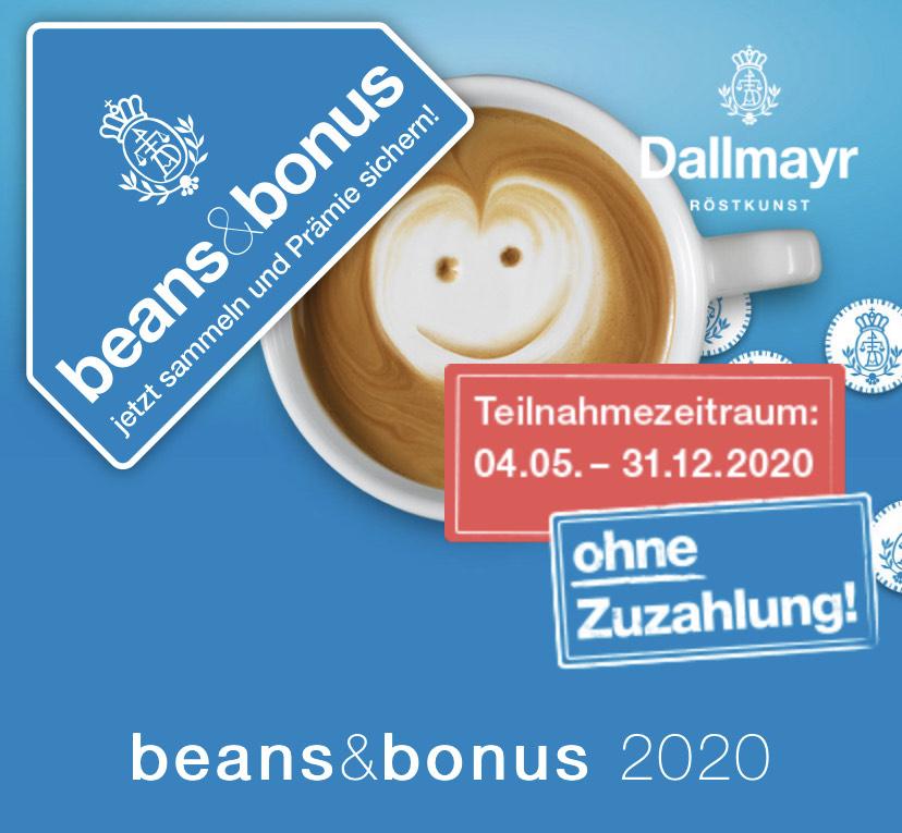 beans&bonus 2020 - Die große Dallmayr Treueaktion mit tollen Prämien