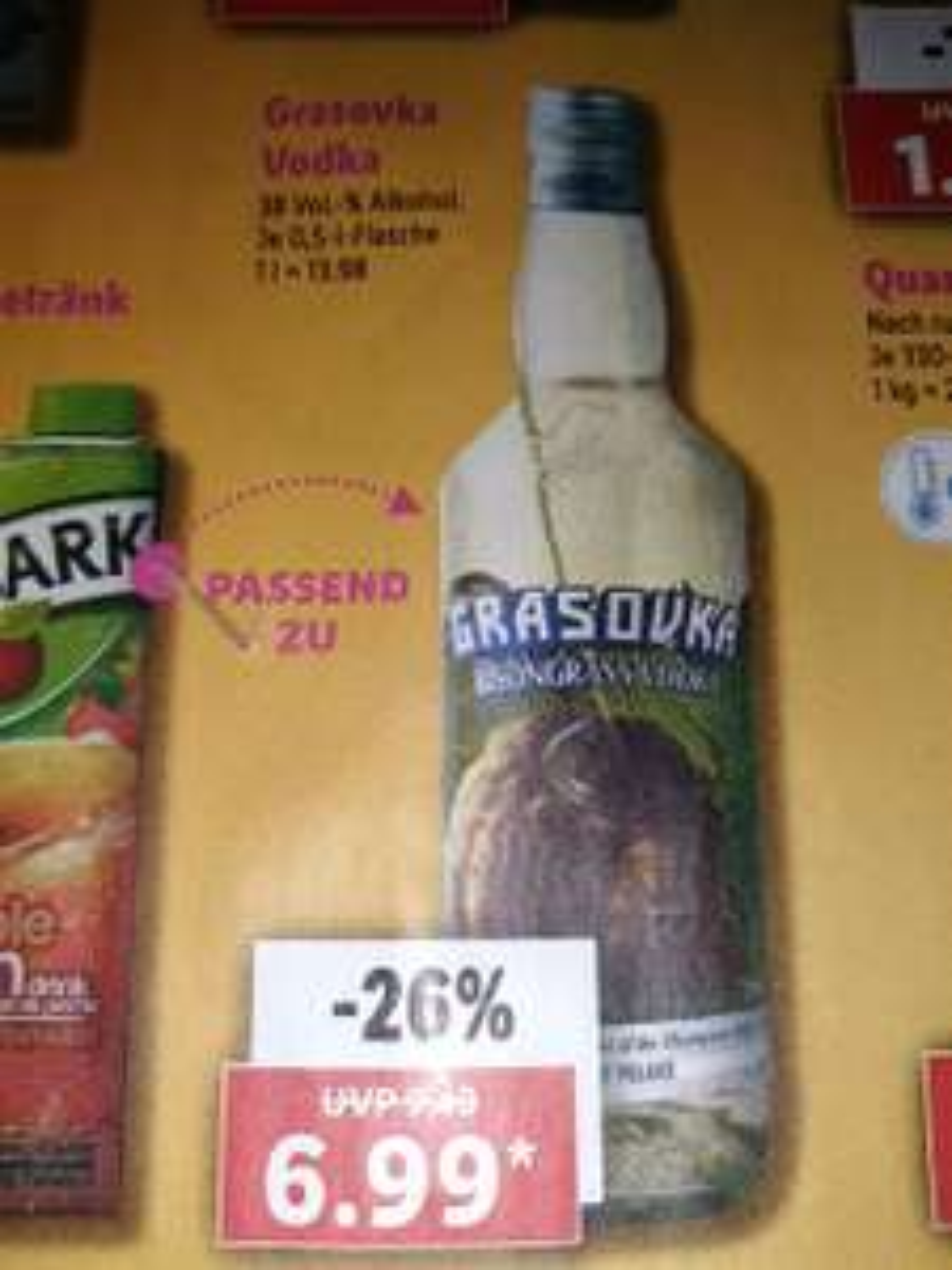 Grasovka Vodka 38% 0,5Liter bei Lidl in der
