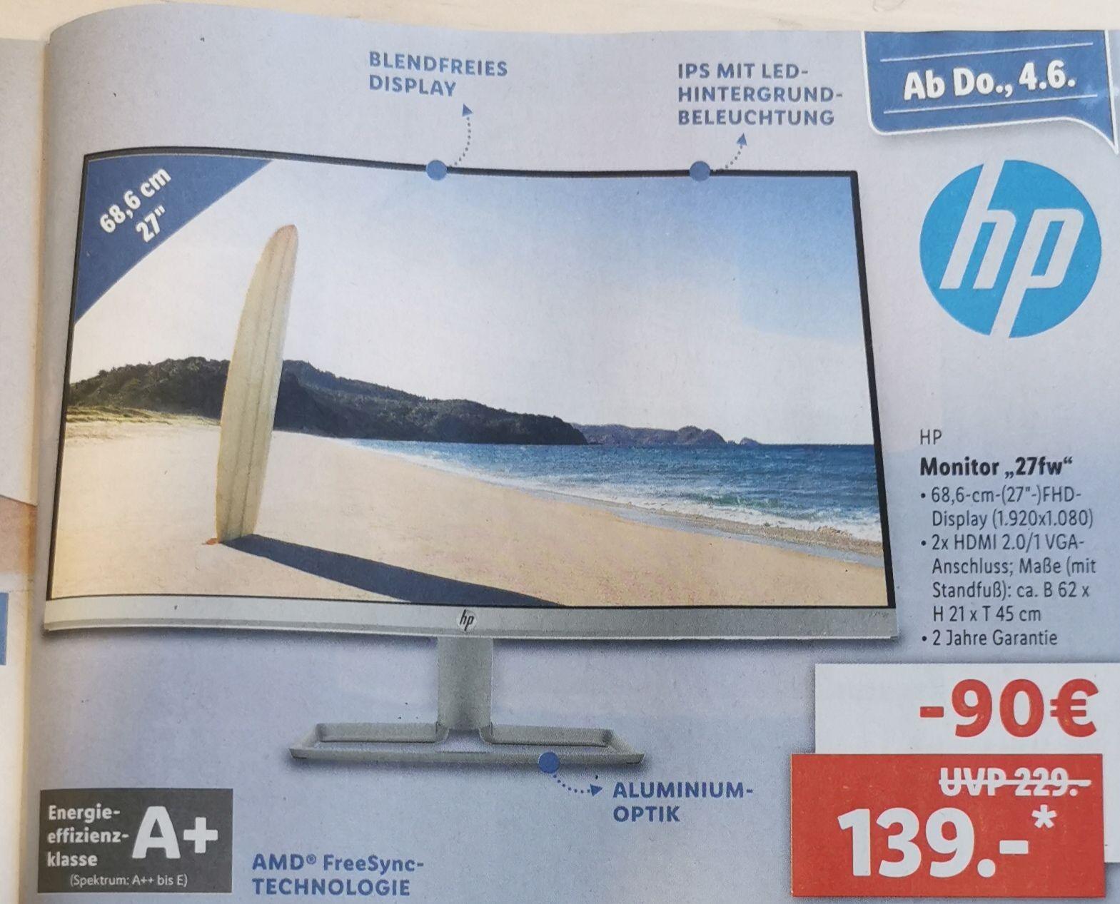 LIDL Monitor HP 27fw