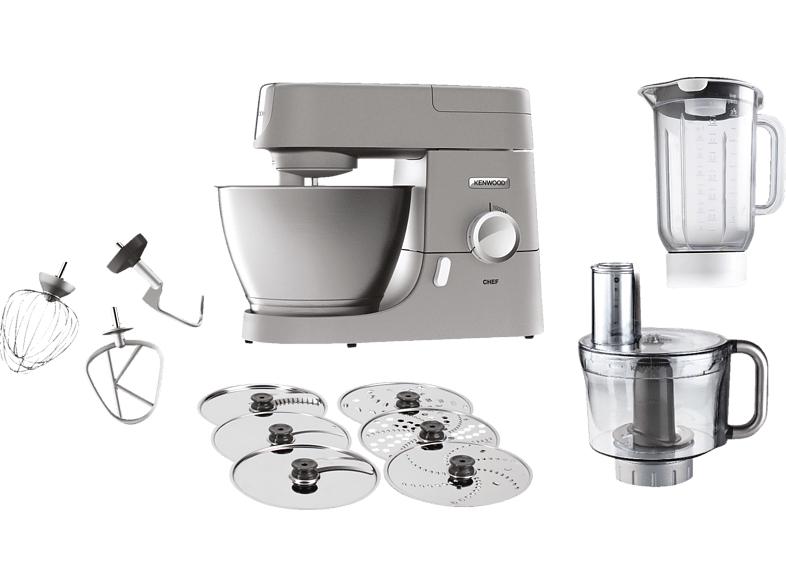 KENWOOD KVC3150S Chef, Küchenmaschine inkl. 5 Zubehörteile, Rührschüssel-Kapazität: 4.6 Liter, 1000 Watt, Silber