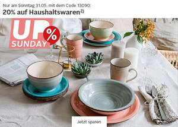 OTTO - UP Sunday 20% auf Haushaltswaren