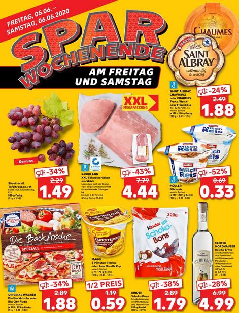 Kaufland / FreSa - Saint Albray mit Coupon / Wagner Backfrische Pizza / Kinder Schoko Bons