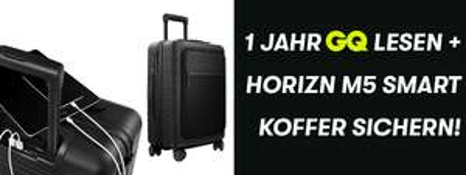Horizn M5 Smart Koffer Handgepäck + 1 Jahr GQ Abo