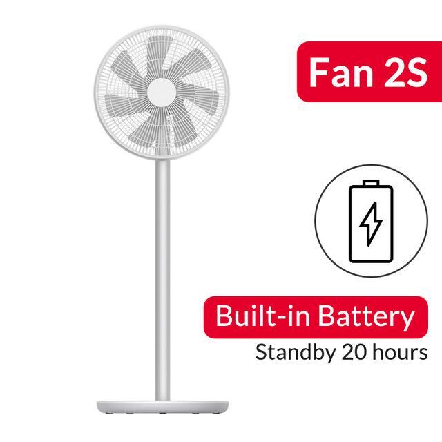 Xiaomi Smartmi 2s Ventilator mit Akku (16h Laufzeit, App-Steuerung, stufenlose Regelung, 29db, Alu) | Lieferung aus EU