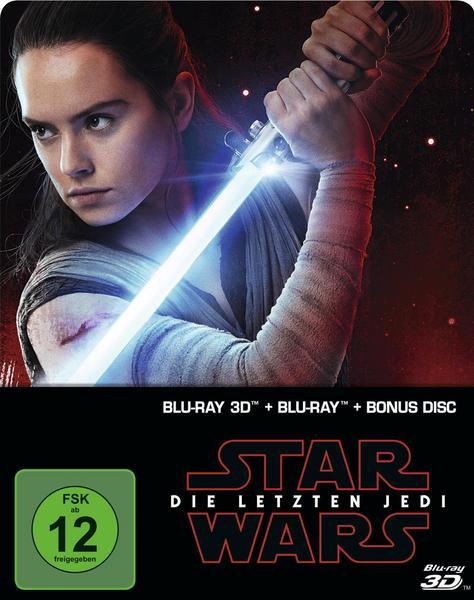 Star Wars: Episode VIII - Die letzten Jedi - Steelbook Blu-ray 3D + Bonus-Blu-ray