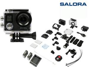 """SALORA 4K-ActionCam """"ACE700"""" (2""""-Display, Inkl. Fernbedienung + wasserdichtes Gehäuse) [iBOOD]"""