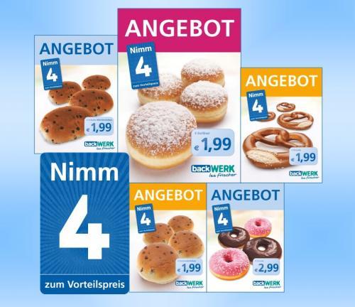 Backwerk - Nimm 4 Aktion - diverse Backwaren