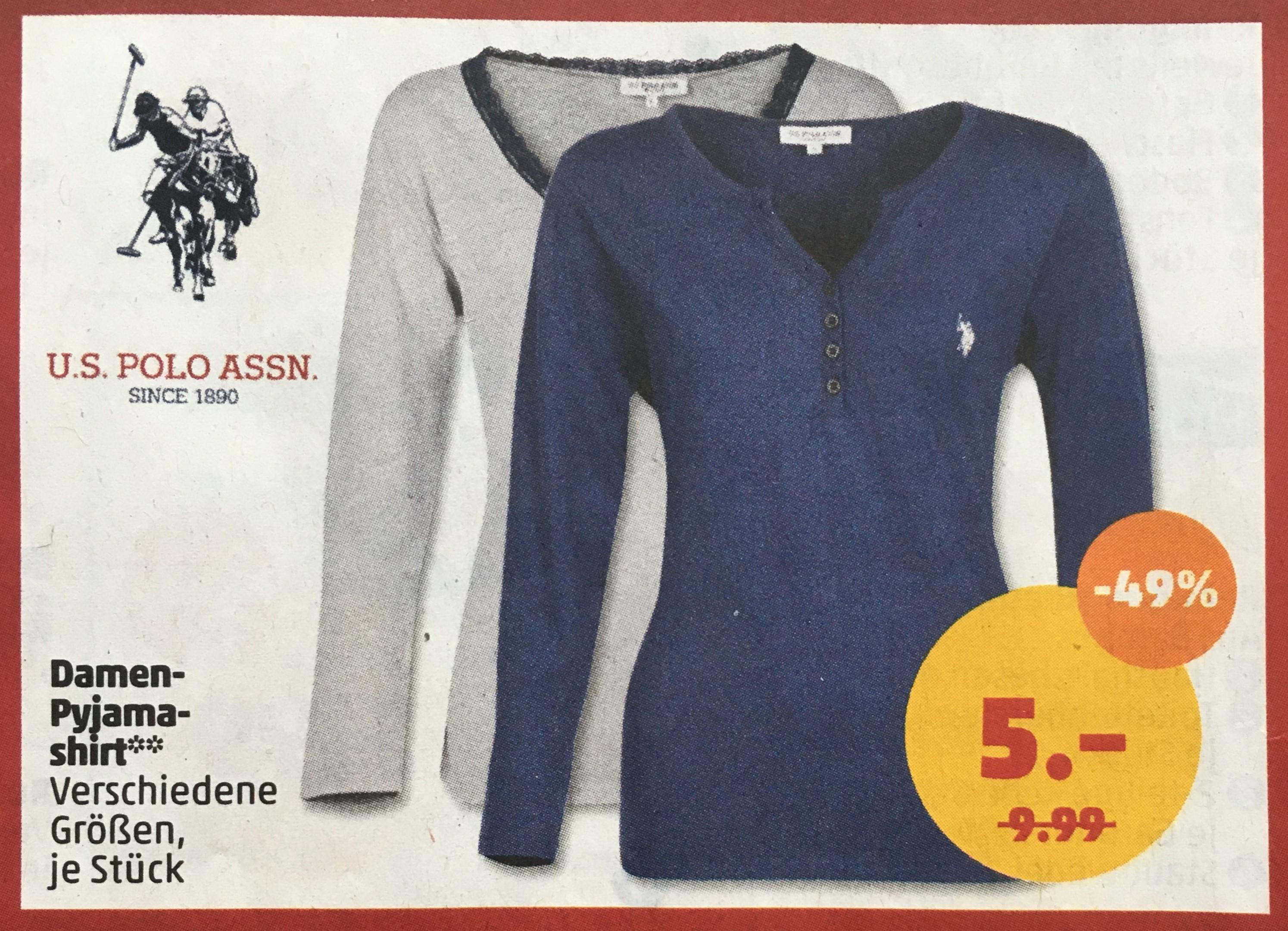 U.S. POLO ASSN Damen Pyjamashirts [Penny Limburg a. d. Lahn]