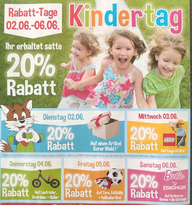 20% Rabatt bei Rofu, u.a. auf alles LEGO (Kindertage)