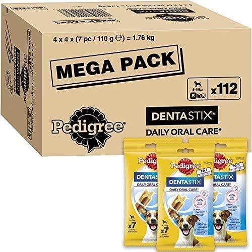 112 Pedigree DentaStix Daily Oral Care Zahnpflegesnack ab 15,57€ mit Prime und Sparabo je nach Größe des Hundes