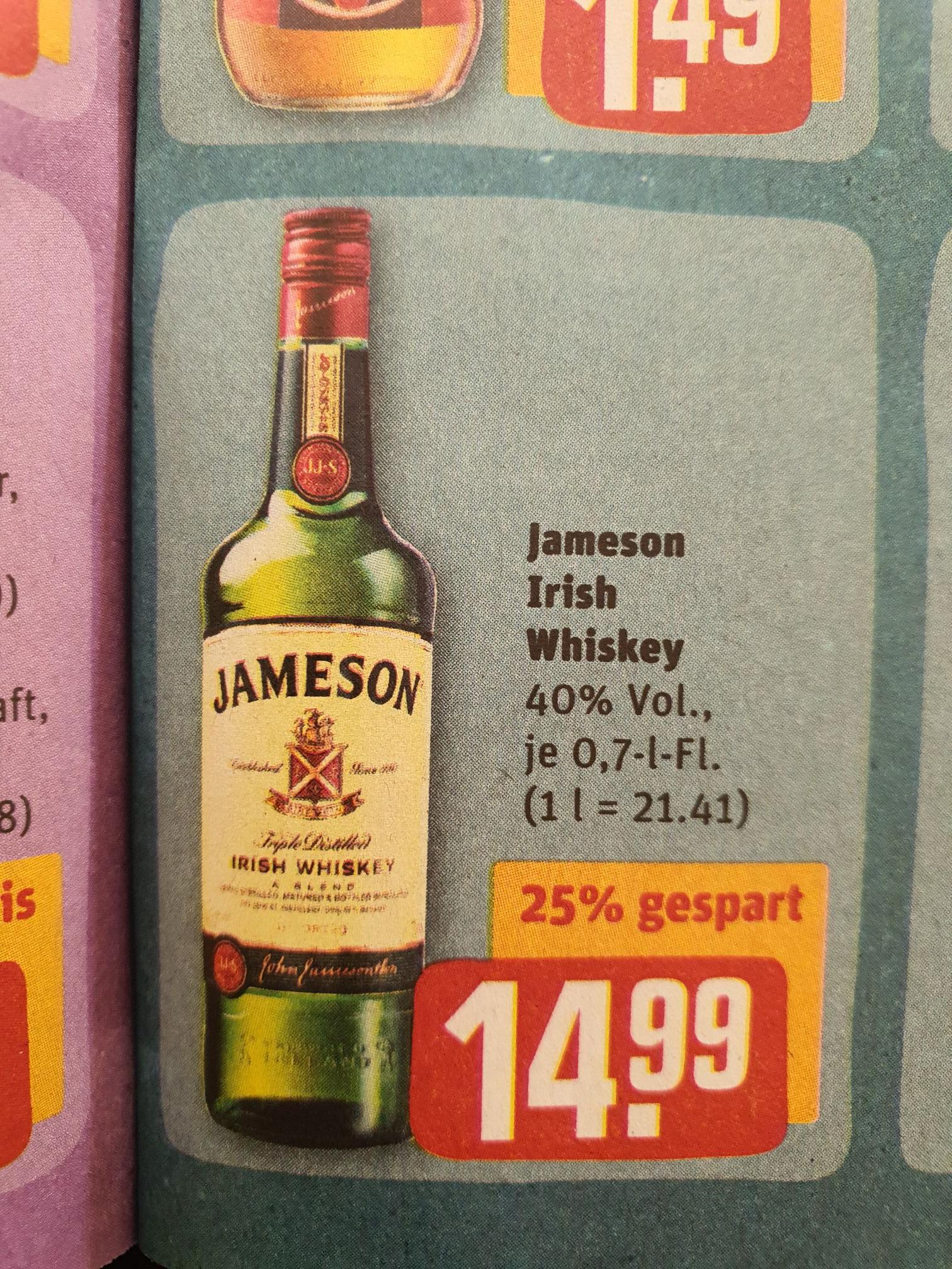 Jameson Irish Whiskey REWE 0,7L 40%