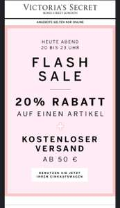 Victoria's Secret Heute ab 20:00 Uhr Flash-Sale