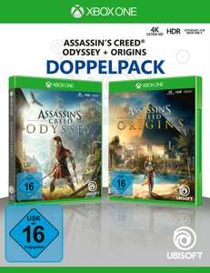 Assassin's Creed: Odyssey + Assassin's Creed: Origins Doppelpack (Xbox One) für 29,99€ (Amazon)